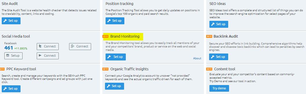 SEMRush Brand Monitoring Review